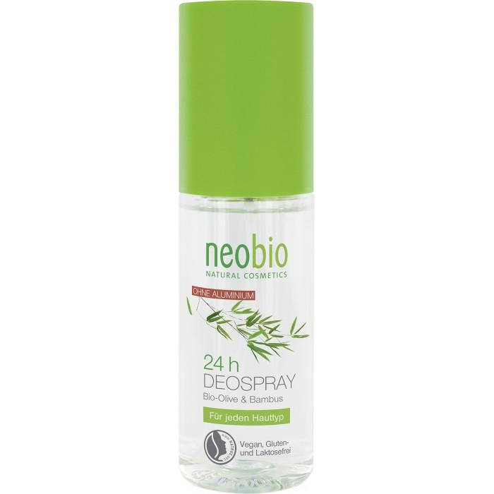 Neobio дезодорант спрей 24 часа с био-оливой и бамбуком 100 млдезодорант спрей 24 часа с био-оливой и бамбуком 100 млNeobio дезодорант спрей 24 часа с био-оливой и бамбукома 100 мл.  Природная защита на целый день.  Сбалансированный состав с био-экстрактами оливы и бамбука обеспечивают эффективную защиту  на весь день. Масло шалфея способствует дезодорирующему эффекту и дарит ощущение свежести.  Применение: Наносить на сухую и чистую кожу подмышек.  Состав: спирт денат.*, вода, триэтилцитрат, лауриллактат, глицерин, экстракт бамбука,  экстракт оливы*, масло шалфея, натрия капроил/лауроил лактат, полиглицерил-10-лаурат, лимонная кислота, эфирные масла ** *контролируемое биологическое выращивание **натуральные эфирные масла.<br>