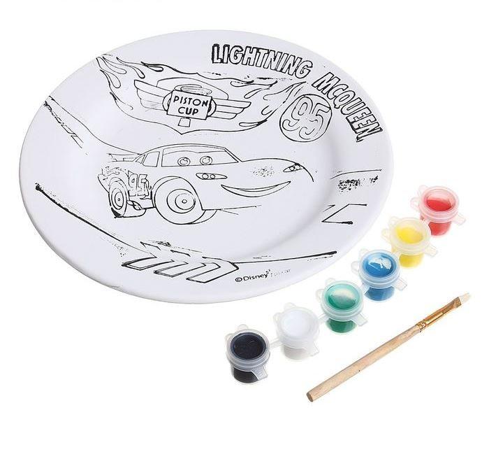 Disney Набор для росписи керамической тарелки Тачки