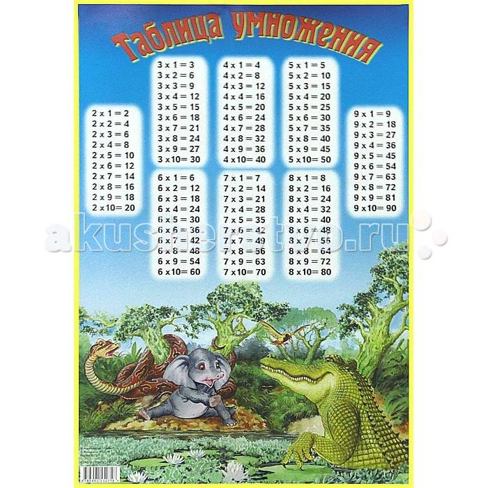 ДетИздат Таблица умножения Слоненок