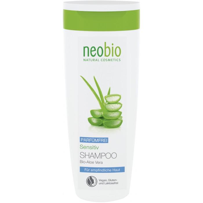 Neobio Шампунь для чувствительной кожи головы 250 млШампунь для чувствительной кожи головы 250 млNeobio Шампунь для чувствительной кожи головы 250 мл.  Для чувствительной кожи головы. Удаляет загрязнения, не раздражая чувствительную кожу. Благодаря особенно нежным и мягким моющим веществам растительного происхождения, шампунь Neobio сенситив бережно очищает волосы, не травмируя и не пересушивая даже очень чувствительную кожу головы.   Растительный глицерин восстанавливает баланс влаги в коже головы. Экстракт био-алоэ вера обладает заживляющим и успокаивающим эффектом. Подходит для ежедневного применения. Гипоалерненно.  Способ применения: Нанесите шампунь на влажные волосы. Несколько минут массируйте кожу головы, после чего тщательно промойте волосы большим объемом теплой воды.  Состав: Вода, Коко-глюкозид, Лаурилглюкозид, Спирт денатурированный* , Глицерин, Порошкообразный концентрат сока листьев алоэ вера*, Бетаин, Аргинин, Кокоил глютамат двунатриевый , Кокоил глютамат натрия, Глицерил олеат пирролидонкарбоновой кислоты,  Фитиновая кислота, Ксантановая смола, Лимонная кислота, Сорбат калия.          *контролируемое биологическое выращивание           **натуральные эфирные масла.<br>