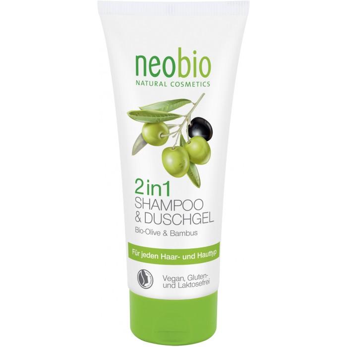 Neobio Шампунь-гель 2 в 1 c био-оливой и бамбуком 200 мл
