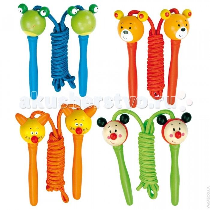 Spiegelburg Детская скакалка 9982767Детская скакалка 9982767Spiegelburg Детская скакалка 9982767 Скакалка - классическая игрушка, развивающая все, без исключения, двигательные функции ребёнка.Прыжки со скакалкой развивают выносливость, укрепляют сердечно-сосудистую и дыхательную системы, тренируют мышцы, вестибулярный аппарат и улучшают координацию движений.  Ручки скакалок изготовлены из высококачественного дерева и окрашены безопасными для детей яркими красками и выполнены в виде забавных животных, удобны для детской ручки.Детская скакалочка станет незаменимой во время детских прогулок.<br>
