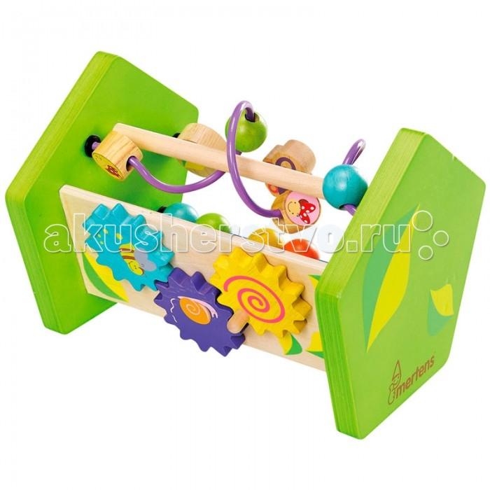 Развивающая игрушка Spiegelburg Развивающий центр 70413Развивающий центр 70413Spiegelburg Развивающий центр 70413 Замечательный лабиринт для развития моторики, логического мышления, координации движений и пространственного мышления ребёнка.   Игрушка представляет собой деревянную платформу со стенками-подставками с двух сторон, между которых прикреплены как прямые, так и извилистые металлические прутики. На эти прутики нанизаны деревянные предметы разной формы, цвета и размера (бусинки, бабочки, цветочки, насекомые), которые нужно передвигать.   Все детали изготовлены из экологически чистого дерева и окрашены безопасными нетоксичными красками. Каждая деталь лабиринта имеет свой определённый цвет, так что ваш малыш сможет изучить и запомнить основные цвета.  Развивающий центр - это не только полезная и нужная игрушка для правильного развития основных навыков, но и приятное времяпровождение с мамой или папой.<br>