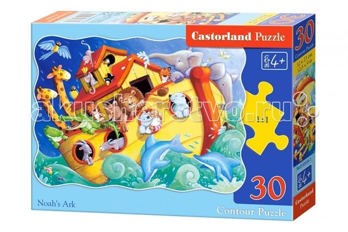 Castorland Пазл Ноев ковчег 30 элементовПазл Ноев ковчег 30 элементовПазл Ноев ковчег - это развивающая и познавательная игра, которая содержит цветную детскую картинку величественного творения библейского персонажа, Ноя. Задача ребенка в этой игре состоит в том, что ему необходимо собрать эту самую картинку, разбитую на 30 частей, воедино. Игра развивает терпение, усидчивость и умственное мышление ребенка.  Основные характеристики:   Размер упаковки: 24.5 х 17.5 х 3.7 см Размер собранной картины: 32 х 23 см Количество элементов: 30 шт.<br>