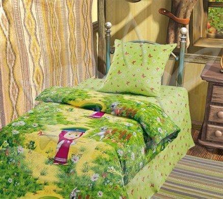 Постельное белье 1.5-спальное Непоседа Маша и Медведь 3D На границе 1.5-спальное (3 предмета)