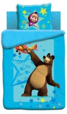 Постельное белье 1.5-спальное Непоседа Маша и Медведь панно Полет 1.5-спальное (3 предмета)