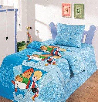 Постельное белье 1.5-спальное Непоседа Союзмультфильм На крыше 1.5-спальное 70х70 (3 предмета)