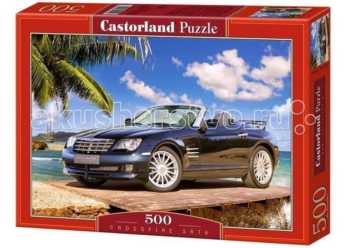 Castorland Пазл Crossfire SRT-6 500 элементовПазл Crossfire SRT-6 500 элементовПазл с изображением красивого кабриолета Chrysler Crossfire SRT-6 на фоне пляжной полосы и лазурного моря, порадует не только мальчиков, но и взрослых мужчин, которые увлекаются автомобилями. Крайслер - статусный автомобиль с мощным двигателем. Внутри машина выглядит так же первоклассно, как и снаружи. Эргономичный дизайн приборной панели и кожаный салон - мечта каждого. Детали пазла выполнены из плотного картона. Изображение очень яркое и контрастное. Такой картиной легко можно украсить комнату мальчика или повесить в рабочем кабинете его папы.  Основные характеристики:   Размер упаковки: 35 x 24 x 3.7 см  Размер собранной картины: 47 х 33 см Размер 1 элемента: 1.76 x 1.76 см Количество элементов: 500 шт.<br>