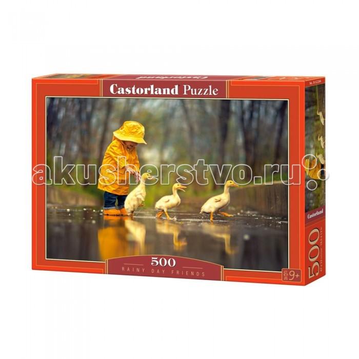 Castorland Пазл Дождливый день 500 элементовПазл Дождливый день 500 элементовДанный пазл состоит из 500 элементов и станет прекрасным времяпровождением ребенка в компании друзей или членов семьи. На конечной картинке можно увидеть малыша в желтом комбинезоне, присматривающем за гусями в дождливый день. Такая игра хорошо развивает логическое мышление ребенка, внимательность, мелкую моторику рук и усидчивость ребенка.  Основные характеристики:   Размер упаковки: 32.5 х 22.5 х 5 см  Размер собранной картины: 47 х 33 см Количество элементов: 500 шт.<br>