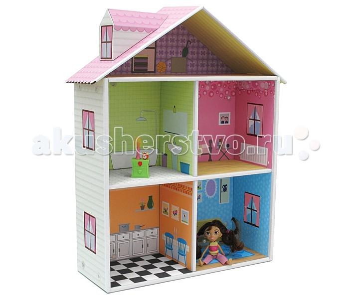 Krooom Игрушки из картона Кукольный домик с мебелью Мелроуз
