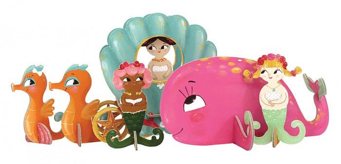 Конструктор Krooom Игрушки из картона: 3D набор РусалочкиИгрушки из картона: 3D набор РусалочкиKrooom Игрушки из картона от 3 лет: 3D набор Русалочки.  Отправьтесь в новое захватывающее морское приключение с 3 прекрасными русалками и их розовым китом. Карета, запряженная морскими конями, уже подана!<br>