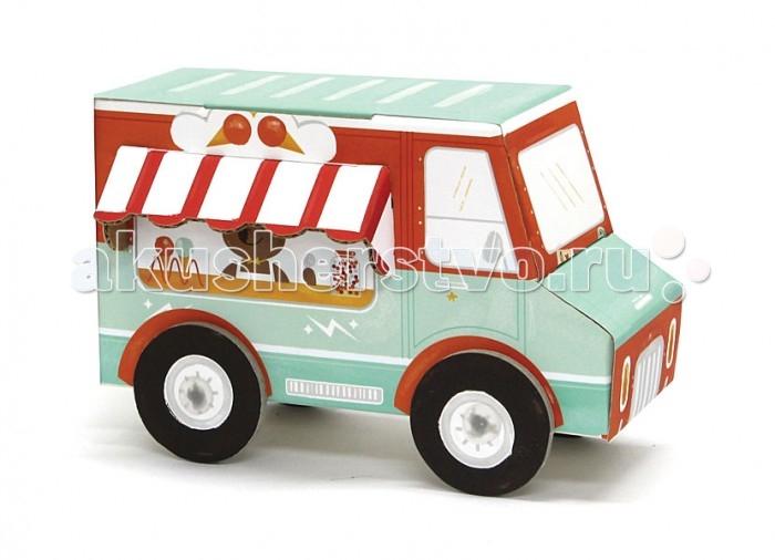 Конструктор Krooom Игрушки из картона модель Fold My… Машина с мороженымИгрушки из картона модель Fold My… Машина с мороженымKrooom Игрушки из картона от 3 лет: модель Fold My… Машина с мороженым.  Любите вкусное мороженое? Тогда медведь Бери – тот, кто вам нужен. Он ездит на своём красочном фургончике и продаёт самое лучшее домашнее мороженое.<br>