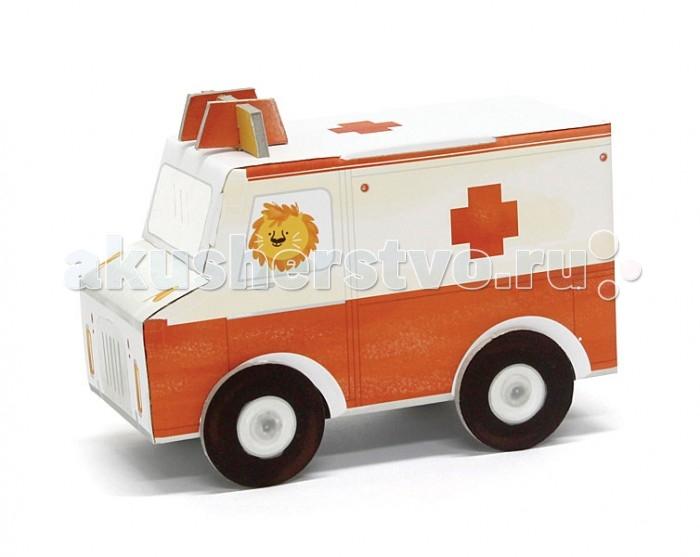 Конструктор Krooom Игрушки из картона модель Fold My… Скорая помощьИгрушки из картона модель Fold My… Скорая помощьKrooom Игрушки из картона от 3 лет: модель Fold My… Скорая помощь.  Этот лев – самый заботливый из всех, кого вы знаете. Он ведет машину скорой помощи и помогает больным, раненым и всем тем, кто нуждается в медицинском лечении.<br>