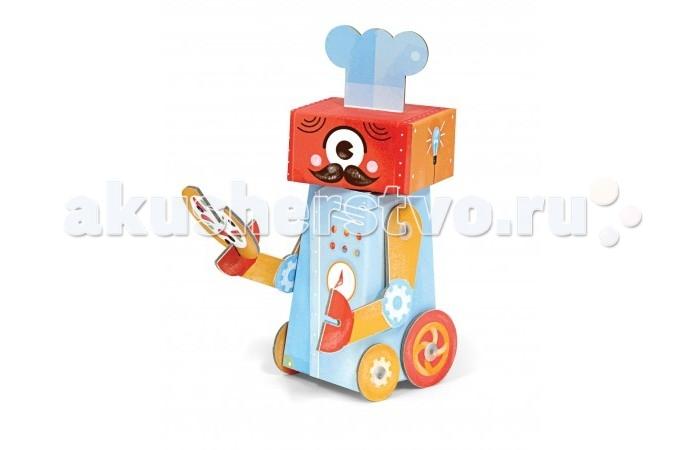 Конструктор Krooom Игрушки из картона модель Fold My… Робот шеф-поварИгрушки из картона модель Fold My… Робот шеф-поварKrooom Игрушки из картона от 3 лет: модель Fold My… Робот шеф-повар.  Угадайте, за что отвечает робот-повар? Конечно же за еду! А встроенная в его спину духовка позволяет ему делать лучшую пиццу и пасту во всей округе!<br>