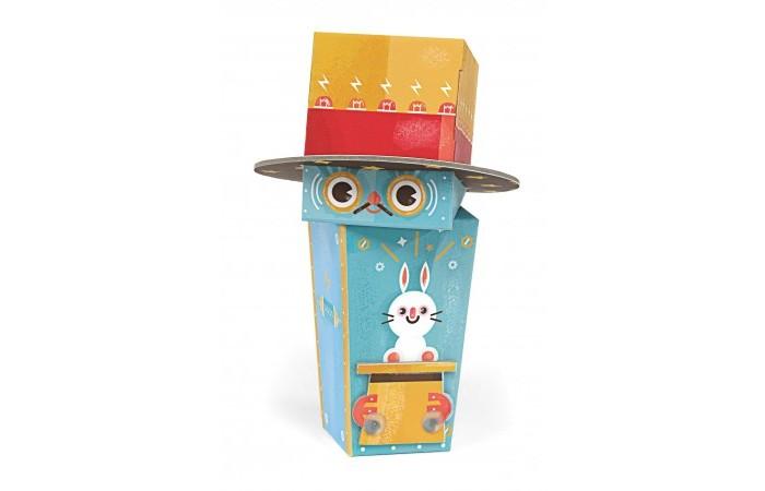 Конструктор Krooom Игрушки из картона модель Fold My… Робот фокусникИгрушки из картона модель Fold My… Робот фокусникKrooom Игрушки из картона от 3 лет: модель Fold My… Робот фокусник.  Фокусник - единственный робот, у которого есть питомец. Он может заставить своего белого кролика исчезнуть и снова появиться в любой момент. Размер: 11 х 11 х 17 см.<br>