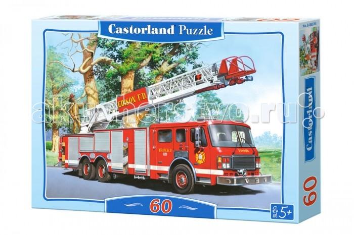 Castorland Пазл Пожарная команда 60 элементовПазл Пожарная команда 60 элементовПазл Пожарная команда предназначен для малышей, которые еще только учатся сборке. Он состоит из 60 элементов, выполненных из прочного и износостойкого картона. Компания Castorland гарантирует качество своей продукции, а значит, вы сможете собирать пазл неоднократно, получая при этом исключительно положительные эмоции и впечатления.  Основные характеристики:   Размер упаковки: 13.2 х 18.1 х 3.7 см Размер собранной картины: 32 х 23 см Количество элементов: 60 шт. Вес: 300 г<br>