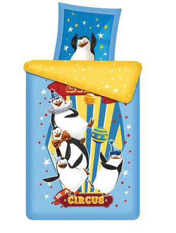 Постельное белье 1.5-спальное Непоседа Мадагаскар 3D панно Пингвины 1.5-спальное (3 предмета)