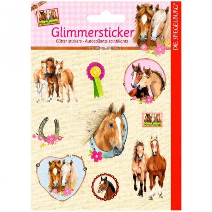 Spiegelburg Наклейки Pferdefreunde 11992Наклейки Pferdefreunde 11992Spiegelburg Наклейки Pferdefreunde 11992 Замечательные наклейки с очаровательными лошадьми и жеребятами специально для вашей маленькой девочки.  Набор включает в себя несколько наклеек, на которых изображены красивые лошадки, некоторые из них в рамочках, а также подкова и призовая медаль. Наклейки настолько милые, что ими сразу захочется украсить личный дневник или тетрадь, медаль или игрушки.  Если ваша девочка любит лошадок, то эти наклейки приведут ее в настоящий восторг. Наклейки сделаны из качественной бумаги, они прекрасно держатся на ровной или лакированной поверхности.  Мы уверены, вашей девочке непременно придется по душе такой подарок, как Наклейки Pferdefreunde от немецкой компании Spiegelburg!<br>