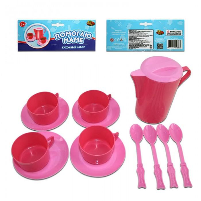 ABtoys Помогаю Маме Набор посуды для кухни 13 предметовПомогаю Маме Набор посуды для кухни 13 предметовABtoys Помогаю Маме Набор посуды для кухни 13 предметов понравится любой девочке, которая любит во всем подражать маме, даже на кухне, готовя и накрывая стол.   В комплект входят необходимые для чаепития четыре комплекта из чашек, ложек и блюдец, а также чайничек, всего 13 пластиковых предметов.<br>
