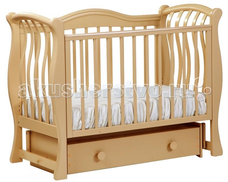 Детская кроватка Кубаньлесстрой БИ 08.2 Маргаритка маятник поперечный
