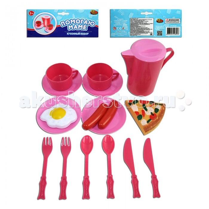 ABtoys Помогаю Маме Набор посуды для кухни 15 предметов