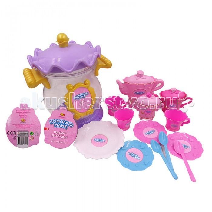 ABtoys Помогаю маме Набор посуды для чаепития 13 предметов