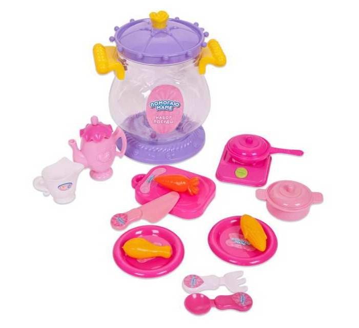 ABtoys Помогаю маме Набор посуды для чаепития 15 предметов