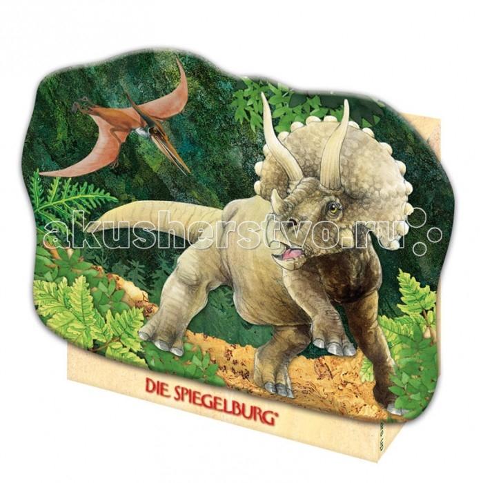 Spiegelburg Мини-пазл Triceratops T-Rex 20870Мини-пазл Triceratops T-Rex 20870Spiegelburg Мини-пазл Triceratops T-Rex 20870- яркий и реалистичный мини-пазл из твердого штампованного картона. Из его частей ребенок может собрать красивую картину, на картинке изображен травоядный рогатый динозавр – трицератопс.  Процесс складывания пазлов научит малыша усидчивости и внимательности, поможет развить воображение и наглядно-образное мышление.Пазл – это занимательная развивающая и обучающая игра, которая требует усидчивости, аккуратности, терпения и внимательности. Собирая картину, ребенок познает связи между частью и целым, развивает логическое мышление и мелкую моторику рук. Чтобы собрать достаточно сложный пазл, нужно иметь хорошо развитое пространственное воображение, способность переворачивать картинку в уме и умение найти нужный фрагмент.   Пазл очень компактен, и его удобно брать с собой в путешествие, чтобы с пользой провести свободное время.Пазл упакован в красивую коробочку оригинальной формы.<br>