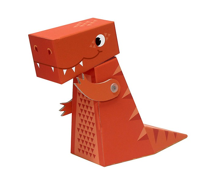 Конструктор Krooom Игрушки из картона модель Fold My… ТиранозаврИгрушки из картона модель Fold My… ТиранозаврKrooom Игрушки из картона от 3 лет: модель Fold My… Тиранозавр.  Тираннозавр – самый крупный из хищников, когда-либо населявших нашу планету. Он весил как целых пять автобусов. А ростом он был как три взрослых человека, если бы они встали на плечи друг к другу. Ну и ещё одной его яркой чертой является его огромный хвост!  Размер: 19 х 6 х 15 см.<br>