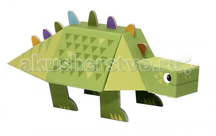 Конструктор Krooom Игрушки из картона модель Fold My… СтегозаврИгрушки из картона модель Fold My… СтегозаврKrooom Игрушки из картона от 3 лет: модель Fold My… Стегозавр.  Травоядный стегозавр весит как два автобуса. Его рост – это рост двух взрослых, стоящих друг у друга на плечах. На спине у стегозавра есть шипы, и поэтому он выглядит немного устрашающе, но в душе он очень добрый. Размер: 25 х 10 х 11 см<br>