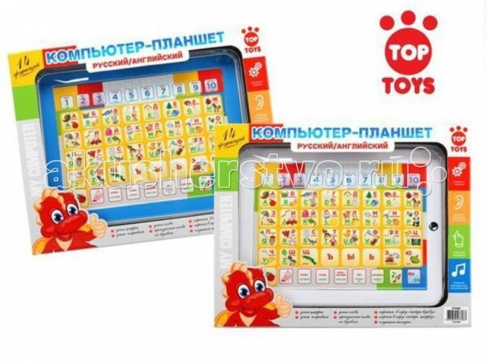 Top Toys Компьютер GT5589 Планшет азбука, математика