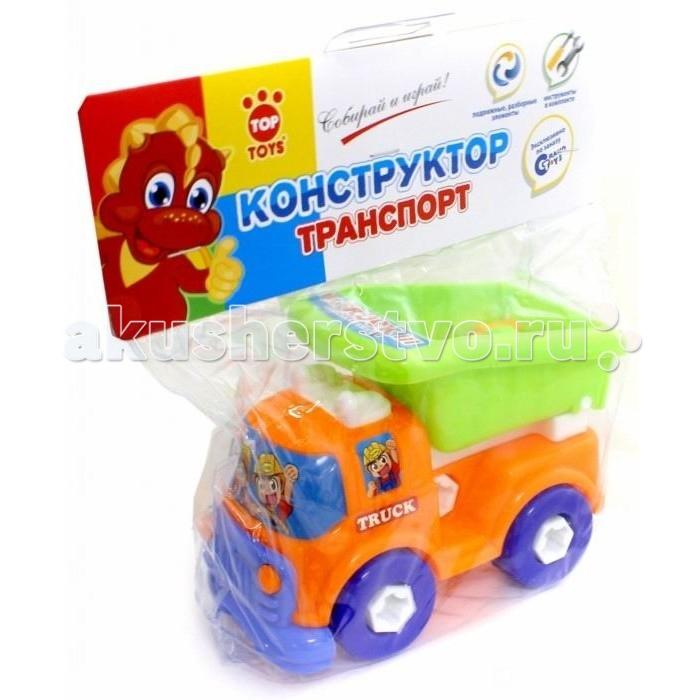 Top Toys GT3220 ГрузовикGT3220 ГрузовикКрасочный конструктор поможет малышу собрать свою первую машинку.  В наборе: подвижные разборные элементы, инструменты.  Материал: пластмасса.<br>