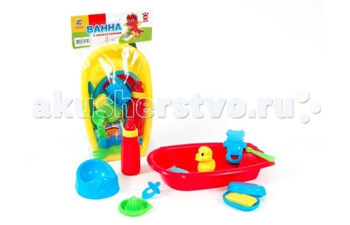 Top Toys Набор GT4960 Ванна с аксессуарамиНабор GT4960 Ванна с аксессуарамиВ этой удобной ванночке будет очень удобно купать своего пупса, можно даже развести мыльный раствор и искупать его с пеной.   Со множеством аксессуаров играть будет гораздо веселее.   В наборе есть желтая уточка для купания, мыло с футляром, горшочек, бутылочка с соской и еще много-много всего, чтобы сделать игру насыщенной и интересной.<br>