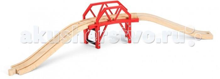 Brio Изогнутый мост 4 деталиИзогнутый мост 4 деталиИзогнутый мост состоящий из четырех деталей от шведской фирмы Brio понравится ребенку тем, что его можно самостоятельно собрать, создав таким способом дополнение для любой игрушечкой трассы. Собрать ее не составит никакого труда. Сам мост сделан из светлого дерева, а его опоры – из пластика. Игрушка сделана полностью из экологических материалов, которые не нанесут вред ребенку.  Основные характеристики:   Размер упаковки: 29 х 15 х 9 см Размер собранного моста: 57.9 х 14.9 х 10.9 см<br>