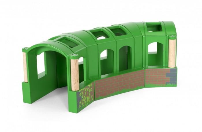 Brio Тоннель-трансформер из 3-х секцийТоннель-трансформер из 3-х секцийДеревянный тоннель-трансформер Brio состоящий из 3-х секций, станет отличным дополнением к уже имеющейся железной дороге, и не только. Тоннель можно трансформировать в трех вариациях.<br>