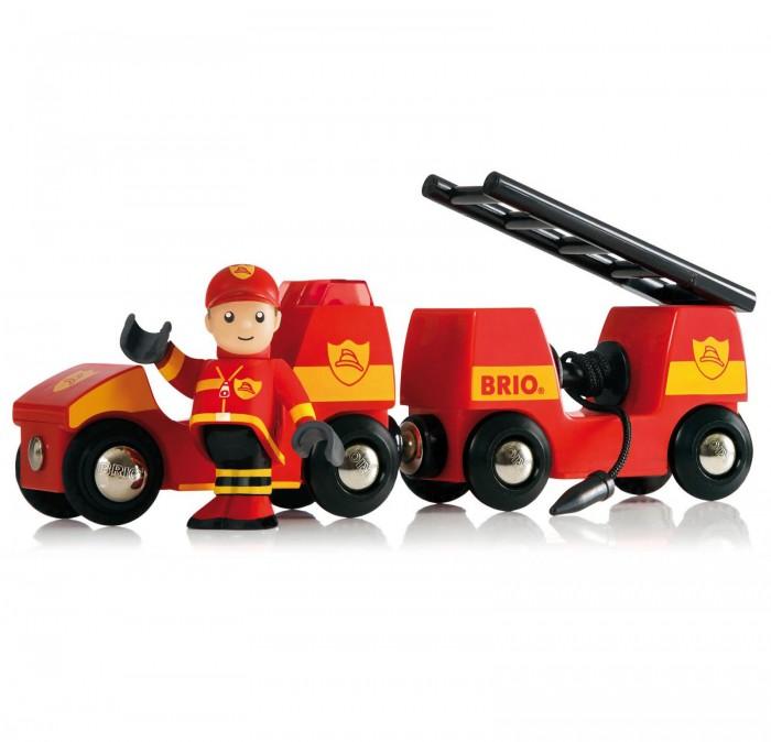 Brio Набор для деревянной ж/д Пожарная машина (свет, звук)