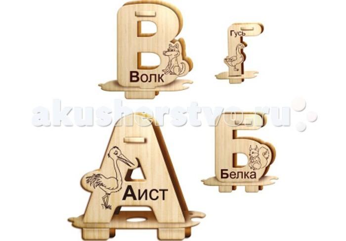 Конструктор Wooden Toys Сборная модель Алфавит КонструкторСборная модель Алфавит КонструкторАлфавит Конструктор для сборки букв русского алфавита изготовленных из высококачественной фанеры.  Все вырубные детали располагаются на фанерной доске. Для сборки букв их необходимо предварительно выдавить с места расположения и собирать в последовательности, указанной в прилагаемой инструкции.  Для того чтобы собранные буквы алфавита служили долго, можно при сборке проклеить места соединения деталей.   При желании собранные буквы можно раскрасить, используя любые типы краски. Производитель рекомендует темперные краски. После раскрашивания их можно покрыть лаком.  В процессе сборки алфавита ребенок развивает усидчивость, пространственное и абстрактное мышление, а так же изучит буквы.   Все детали сборной модели изготовлены из экологически чистой древесины.  Комплектация:  Фанерные пластины с деталями и инструкция по сборке.<br>