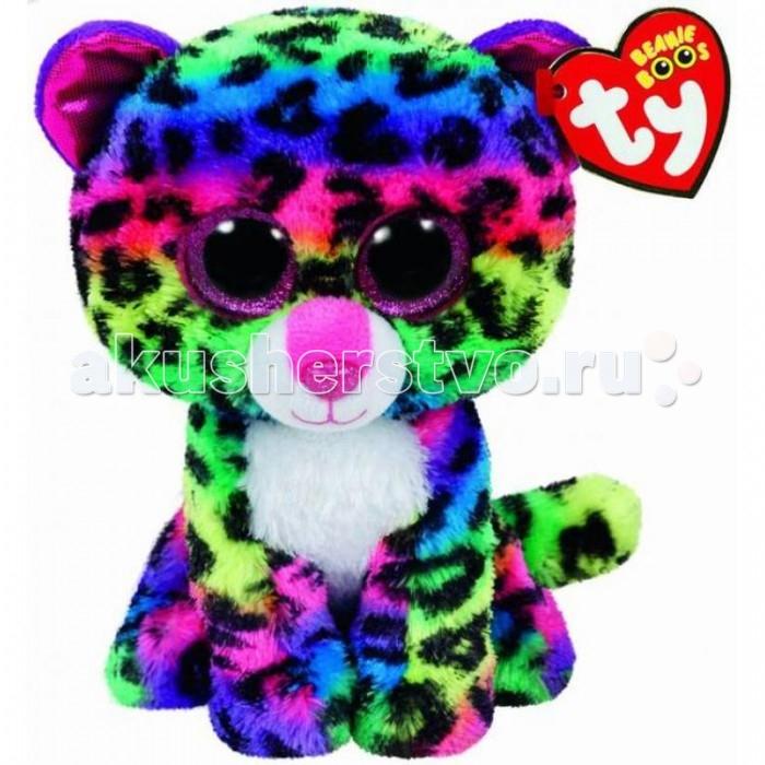 Мягкая игрушка TY Beanie Boos Леопард Dotty 15 смBeanie Boos Леопард Dotty 15 смTY Beanie Boos Леопард Dotty 15 см 37189  Мягкая игрушка Beanie Boos Леопард Дотти от Ty Inc представляет собой пушистого цветного леопарда. Это необычный малыш леопард, потому что имеет яркий окрас. Он хочет подружиться с ребенком и стать его преданным другом. Пушистого милого зверька можно гладить, обнимать, разговаривать с ним, ведь он смотрит очень внимательно своими большими глазами. Игры с мягкими игрушками развивают фантазию у детей и положительно влияют на их тактильное восприятие.  Высота игрушки: 15 см<br>