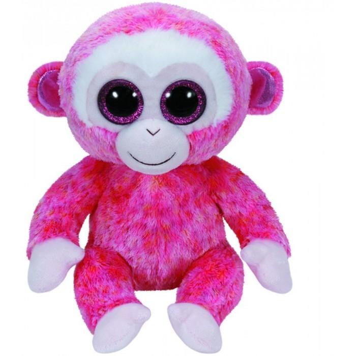 Мягкая игрушка TY Beanie Boos Обезьянка Ruby 25 смBeanie Boos Обезьянка Ruby 25 смTY Beanie Boos Обезьянка Ruby 25 см 37010  Вы только посмотрите на эту прелестную игрушку! Розовая обезьянка просто завораживает своими добрыми искрящимися глазками. Она мягкая, яркая, небольшая по размеру (20 см) и очень милая. Такая обезьянка уж точно не останется без внимания ребятишек. Игрушка вызывает только самые светлые эмоции - ее хочется трогать, брать на прогулку с собой, с ней хочется спать в обнимку и постоянно играть.  Высота игрушки: 25 см<br>