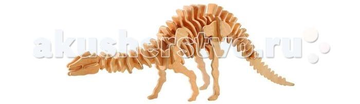Конструктор Wooden Toys Сборная модель Апатозавр большойСборная модель Апатозавр большойАпатозавр это сборная деревянная игрушка - модель настоящего древнего динозавра.   Все вырубные детали располагаются на фанерной доске. Для сборки модели их необходимо предварительно выдавить с места расположения и собирать в последовательности, указанной в прилагаемой инструкции.  Для того чтобы собранная модель служила долго, можно проклеить места соединения деталей при сборке.   При желании собранную модель можно раскрасить, используя любые типы краски. Производитель рекомендует темперные краски. После раскрашивания модель можно покрыть лаком.  В процессе сборки модели ребенок развивает усидчивость, пространственное и абстрактное мышление.   Все детали сборной модели изготовлены из экологически чистой древесины.  Комплектация:  4 фанерные пластины с деталями и инструкция по сборке.<br>
