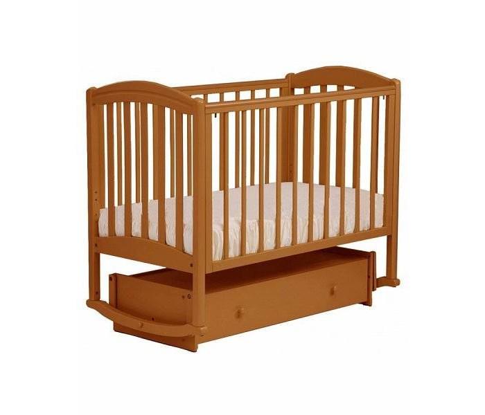 Детская кроватка Кубаньлесстрой БИ 09.2 Василек маятник поперечный