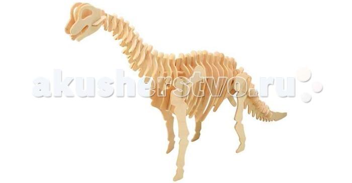 Конструктор Wooden Toys Сборная модель БрахиозаврСборная модель БрахиозаврБрахиозавр это сборная деревянная игрушка - модель настоящего древнего динозавра.  Все вырубные детали располагаются на фанерной доске. Для сборки модели их необходимо предварительно выдавить с места расположения и собирать в последовательности, указанной в прилагаемой инструкции.  Для того чтобы собранная модель служила долго, можно проклеить места соединения деталей при сборке.   При желании собранную модель можно раскрасить, используя любые типы краски. Производитель рекомендует темперные краски. После раскрашивания модель можно покрыть лаком.  В процессе сборки модели ребенок развивает усидчивость, пространственное и абстрактное мышление.   Все детали сборной модели изготовлены из экологически чистой древесины.  Комплектация:  4 фанерных пластины с деталями и инструкция по сборке.<br>