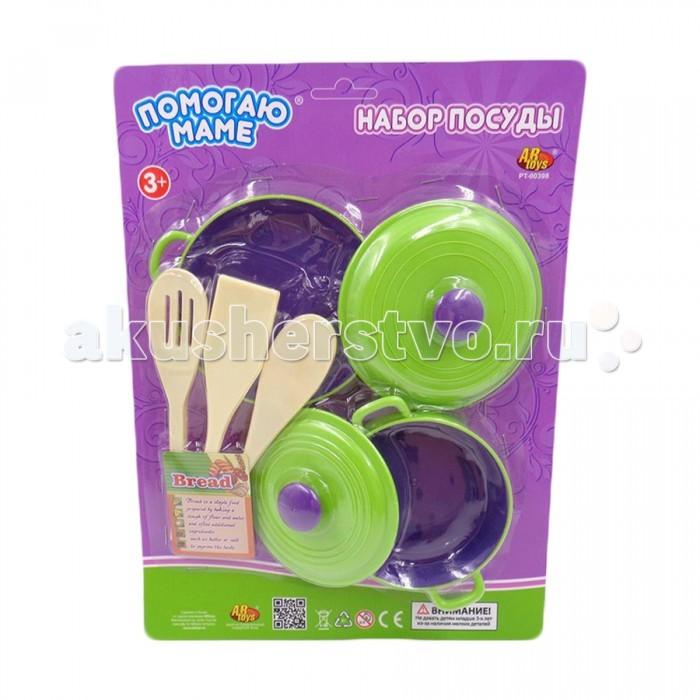 ABtoys Помогаю маме Набор посуды 5 предметов на картоне