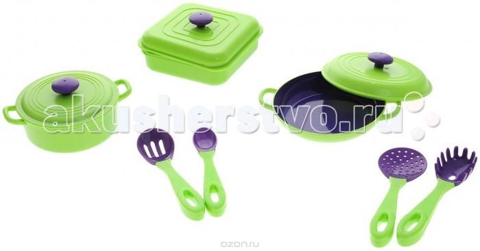 ABtoys Помогаю маме Набор посуды 7 предметов на картоне