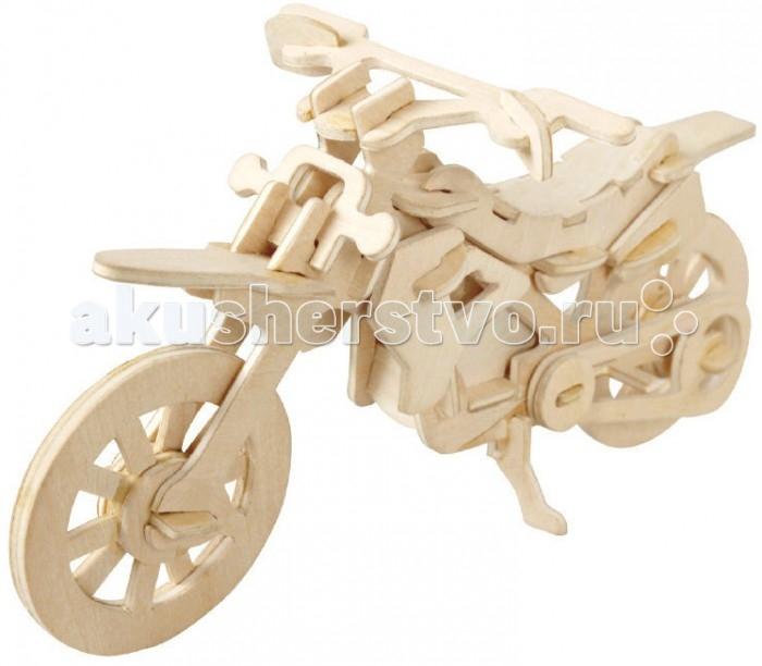 Конструктор Wooden Toys Сборная модель Внедорожный мотоцикл малыйСборная модель Внедорожный мотоцикл малыйВнедорожный мотоцикл малый это сборная деревянная игрушка - модель настоящего мотоцикла.  Все вырубные детали располагаются на фанерной доске. Для сборки модели их необходимо предварительно выдавить с места расположения и собирать в последовательности, указанной в прилагаемой инструкции.  Для того чтобы собранная модель служила долго, можно проклеить места соединения деталей при сборке.   При желании собранную модель можно раскрасить, используя любые типы краски. Производитель рекомендует темперные краски. После раскрашивания модель можно покрыть лаком.  В процессе сборки модели ребенок развивает усидчивость, пространственное и абстрактное мышление.   Все детали сборной модели изготовлены из экологически чистой древесины.  Комплектация:  2 фанерных пластины с деталями и инструкция по сборке.<br>