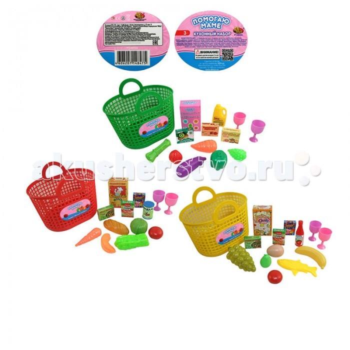 ABtoys Помогаю Маме Набор продуктов для вок 21 предмет