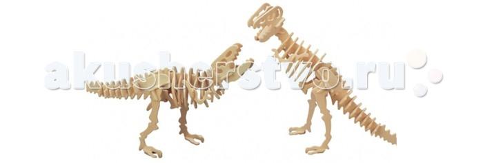 Конструктор Wooden Toys Сборная модель Динонихус 2 в 1Сборная модель Динонихус 2 в 1Динонихус 2 в 1 это сборная деревянная игрушка - модели настоящих древних динозавров.  Все вырубные детали располагаются на фанерной доске. Для сборки модели их необходимо предварительно выдавить с места расположения и собирать в последовательности, указанной в прилагаемой инструкции.  Для того чтобы собранная модель служила долго, можно проклеить места соединения деталей при сборке.   При желании собранную модель можно раскрасить, используя любые типы краски. Производитель рекомендует темперные краски. После раскрашивания модель можно покрыть лаком.  В процессе сборки модели ребенок развивает усидчивость, пространственное и абстрактное мышление.   Все детали сборной модели изготовлены из экологически чистой древесины.  Комплектация:  4 фанерных пластины с деталями и инструкция по сборке.<br>