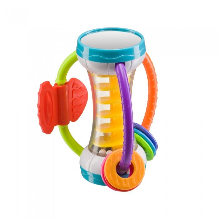 Погремушка Happy Baby Игрушка SpiraliumИгрушка SpiraliumHappy Baby Игрушка-погремушка Spiralium  Игрушка-погремушка SPIRALIUM замечательная находка для вашего малыша! Внешний вид игрушки притягивает и завораживает внимание ребёнка, так и хочется взять её в ручки, чтобы изучить со всех сторон. Многофункциональность игрушки СПИРАЛИУМ позволяет использовать её на разных этапах развития крохи. Внутри прозрачного корпуса погремушки находится спираль, по которой перекатываются разноцветные бусинки. Малыш с удовольствием наблюдает за ними, тем самым развивая зрительно-моторную координацию. Удобные ручки-дужки с ребристой поверхностью развивают тактильные ощущения крохи. На ручках игрушки располагаются прорезыватели для зубок с разной рельефной поверхностью, которые идеально подойдут для массажа десен, усиливая циркуляцию крови.   Состав: АБС пластик, полипропилен, этиленвинилацетат Предназначено для детей от 3 месяцев.  Уход:  перед первым и после каждого последующего использования рекомендуется протирать изделие влажной тряпочкой. Не используйте для очистки едкие моющие вещества. Не рекомендуется погружать изделие в воду.  Внимание! Избегайте попадания на игрушку прямых солнечных лучей и/или нагрева. Не кипятите, не помещайте в СВЧ-печь или в посудомоечную машину.  Внимание! Использовать только под непосредственным наблюдением взрослых. Перед каждым использованием проверяйте изделие на наличие повреждений. В случае обнаружения повреждений изделие следует выбросить и заменить его новым  Внимание! Для безопасности ребенка удалите все пластмассовые упаковочные элементы. Сохраняйте вкладыш и /или упаковку с данными предприятия изготовителя.  Условия хранения: сухое проветриваемое помещение.  Срок службы: 5 лет со дня реализации. Срок годности: 10 лет.<br>