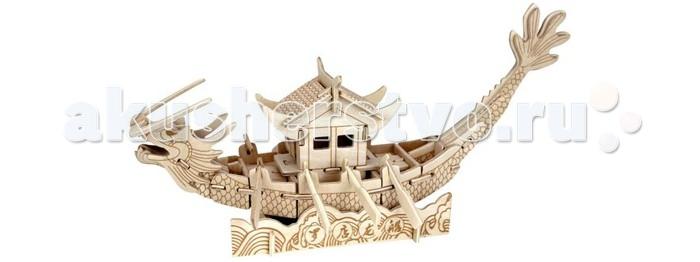 Конструктор Wooden Toys Сборная модель Лодка принцессыСборная модель Лодка принцессыЛодка принцессы это сборная деревянная игрушка - 3D пазл в виде лодки, имитирующей дракона, на спине которого располагается дом для китайской принцессы.   Все вырубные детали располагаются на фанерной доске. Для сборки модели их необходимо предварительно выдавить с места расположения и собирать в последовательности, указанной в прилагаемой инструкции.  Для того чтобы собранная модель служила долго, можно проклеить места соединения деталей в процессе сборки.   При желании собранную модель можно раскрасить, используя любые типы краски. Производитель рекомендует темперные краски. После раскрашивания модель можно покрыть лаком.  В процессе сборки модели ребенок развивает усидчивость, пространственное и абстрактное мышление.   Детали сборной модели изготовлены из экологически чистой древесины.  Комплектация:  4 фанерных пластины с деталями и инструкция по сборке.<br>