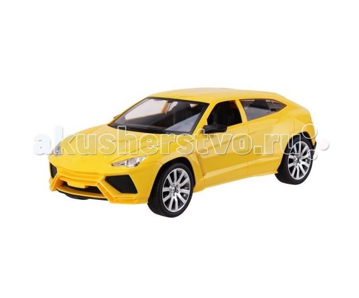 Пламенный мотор Машина на р/у Превосходство скорости на аккумуляторе 1:12 (свет)Машина на р/у Превосходство скорости на аккумуляторе 1:12 (свет)Радиоуправляемая машина от торговой марки Пламенный мотор выполнена в размере 1:12, изготовлена из металла и дополнена элементами декора из пластика. Эта модель окрашена в ярко-желтый цвет, ее подвижные колеса покрыты резиной. Когда автомобиль находится в движении, его фары загораются как у настоящей машины. В комплекте к автомобилю также есть пульт радиоуправления и батарейки. Машина может двигаться вперед, назад и выполнять различные повороты, достигая при этом высокой скорости. С такой скоростной машинкой юный автогонщик сможет придумать множество веселых игровых сюжетов.  В комплекте:    Машина; Пульт управления; Аккумуляторные батареи.  Основные характеристики:   Размер упаковки: 46 х 19 х 18 см Масштаб: 1:12<br>